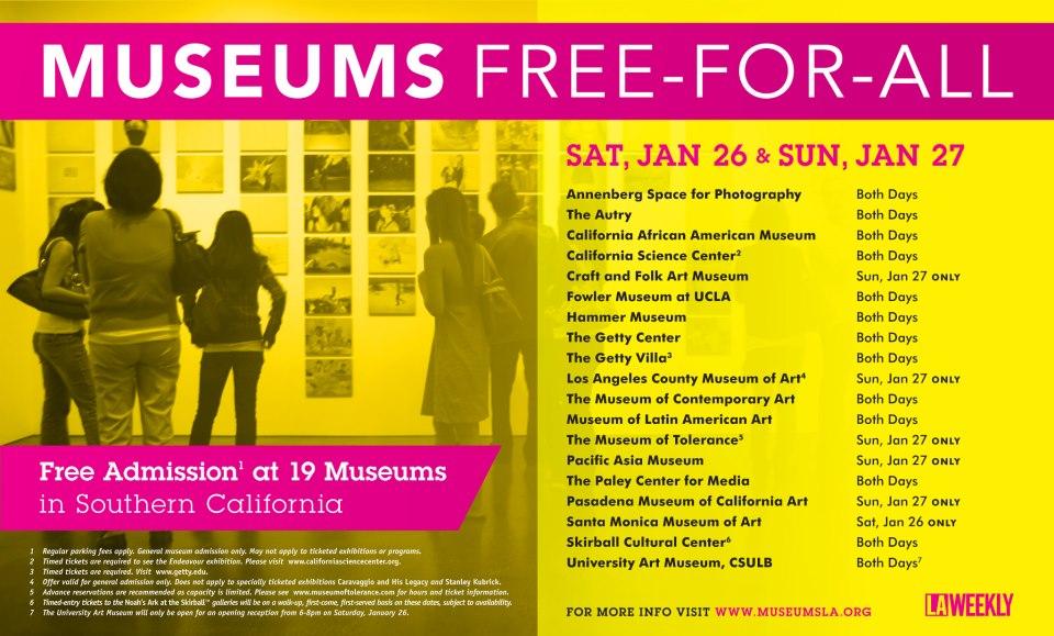 Free museum Jan 2013